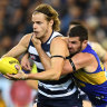 As it happened: Geelong fight back to bury West Coast