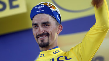 France's Julian Alaphilippe retained the overall leader's yellow jersey.