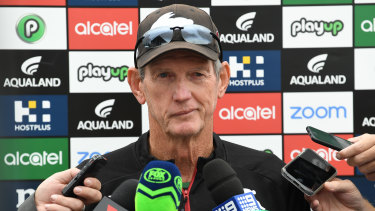 Sly smile: Wayne Bennett gets the best out of Roberts.