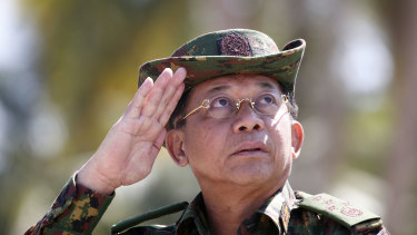 Myanmar military commander-in-chief Senior General Min Aung Hlaing.