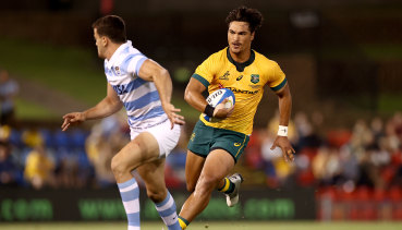 Jordan Petaia was one of the Wallabies' best in what was a disappointing night at the office.