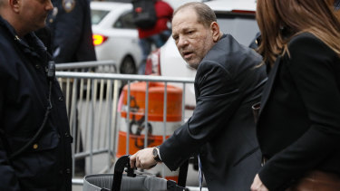 Harvey Weinstein leaving his Manhattan trial last week.
