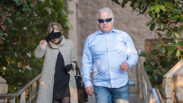 Liudmilla and Con Petropoulos leaving court in June 2019.
