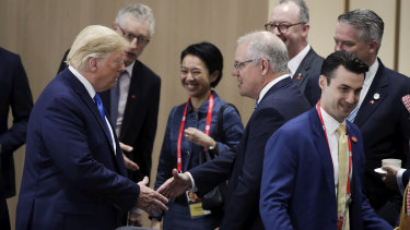 Prime Minister Scott Morrison denies US President Donald Trump tried to enlist his help to water down climate change commitments at the G20.