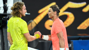 Stefanos Tsitsipas pulled off a remarkable five-set upset to beat Rafael Nadal.