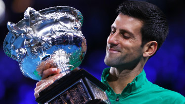 Over two million viewers watched Novak Djokovic beat Dominic Thiem in the 2020 men's final.