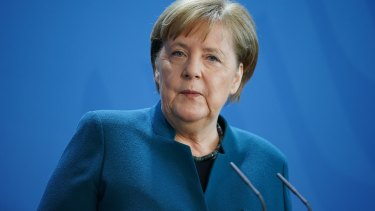 """German Chancellor Angela Merkel said grants of money are """"not in the category of what I can agree""""."""