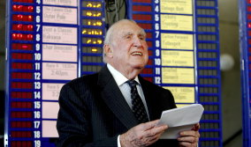 Bill Waterhouse working at Rosehill Racecourse in 2009, aged 87.