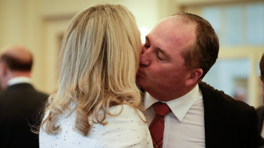 Nationals MPs Bridget McKenzie and Barnaby Joyce.