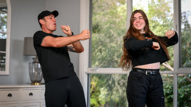 Formally trained dancer John Paul learns a TikTok routine from his 15-year-old daughter Charlotte.
