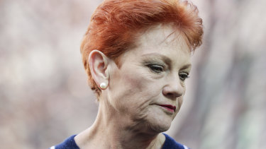 "Pauline Hanson said this wasn't the first time Brian Burston ""stabbed me in the back""."