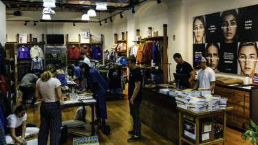Patagonia's Sydney flagship store prior to the school strike for climate.