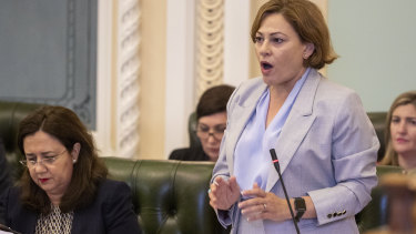 The opposition claims Jackie Trad interfered in the recruitment process for a principal at a new school.