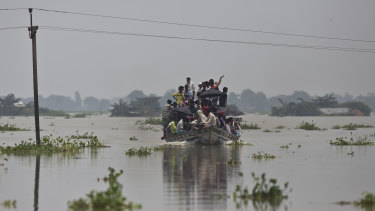 Flooding in the northeastern Indian state of Assam this month.