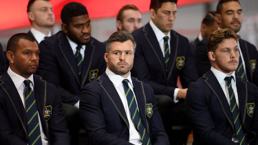 Adam Ashley-Cooper at the Wallabies team announcement on Friday.