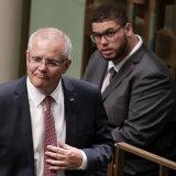 Prime Minister Scott Morrison and Greens Senator Jordon Steele-John.