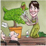 Former A2 Milk chief executive Jayne Hrdlicka. Illustration: John Shakespeare