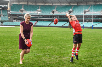 Former federal sports minister Bridget McKenzie (left) has come under fire for handing over   grants in marginal seats.