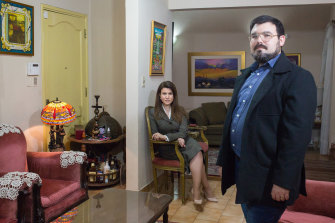 José Acevedo and his sister Elena, who traveled to the U.S. to get vaccinated, at their home in Asunción, Paraguay, on May 25, 2021.