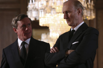 Alex Jennings as the Prince of Wales and James Cromwell as Prince Philip in The Queen.