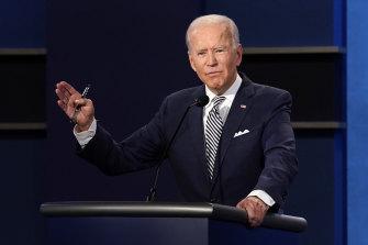 Democratic presidential candidate and former vice-president Joe Biden speaks during the first presidential debate.
