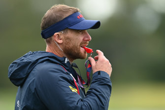 Melbourne coach Simon Goodwin says the bump is very risky.