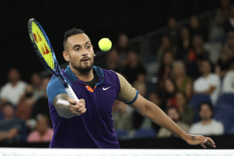 Nick Kyrgios said he was proud of himself after his performance at this year's Australian Open.