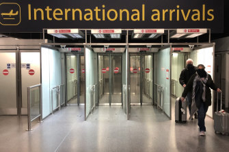 The arrivals terminal at London Gatwick airport has fallen silent.