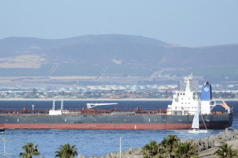 A drone attack on the Israeli-managed oil tanker Mercer Street, pictured, killed two people last week.