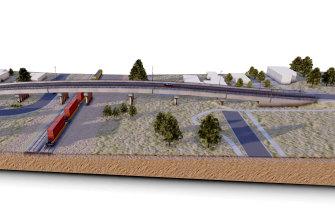 The new rail bridge proposed for Glenrowan.