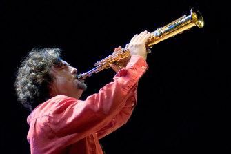 Jazz saxophonist Mirko Guerrini.