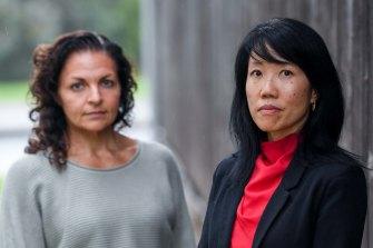 The Eastern Community Legal Centre's Marika Manioudakis and Belinda Lo.