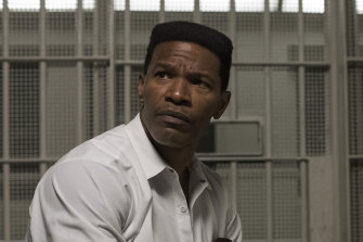 Jamie Foxx plays accused murderer Walter McMillian on death row in Just Mercy.