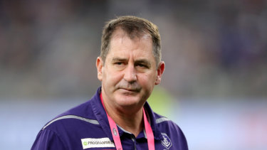 Ross Lyon has been sacked and will not coach in the Dockers' final game of the season.