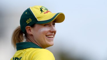 Ellyse Perry during the third one-day international of the women's Ashes series,