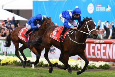 Simply the best: Winx takes her fourth Cox Plate.