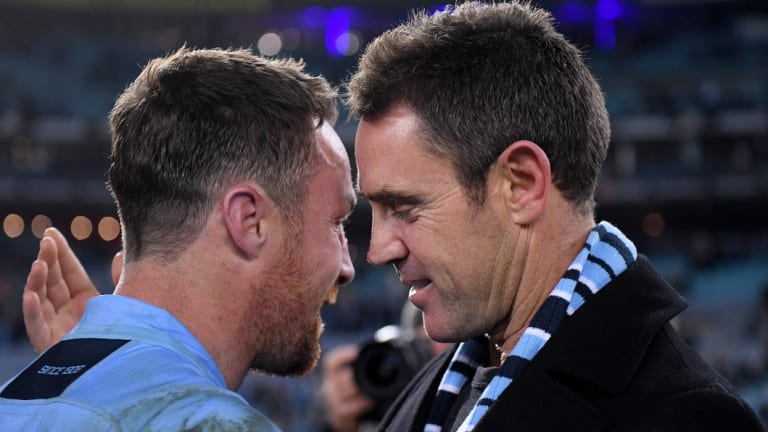Special relationship: James Maloney and Brad Fittler formed a bond that held the Blues together.