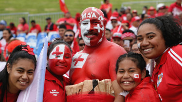 Fanatical: Tonga's 'Red Army' are crying out for the chance to see more of their heroes.