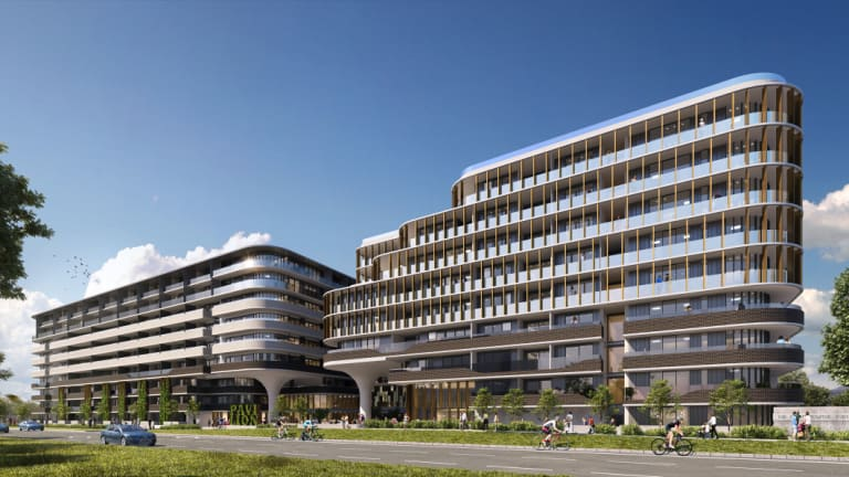 An artist's impression of a proposed develop on the site of the Pavilion Hotel.