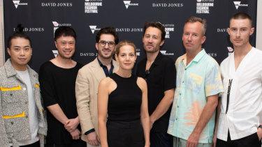 2019 National Designer Award finaists (from left) Chris Ran Lin, Brian Huynh (MNDATORY), Christian Kimber, Jade Sarita Arnott (Arnsdorf), Toby Jones and Mikey Nolan (Double Rainbouu), Blair Archibald.