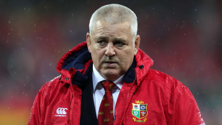 Respect: Warren Gatland is remaining wary of the under-pressure Wallabies.