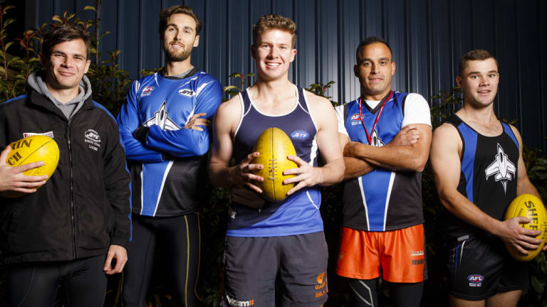 Luke Martin, Nathan Smith, Joseph Looby, John Love and Matthew Sheldon have returned to play for the Gungahlin Jets.