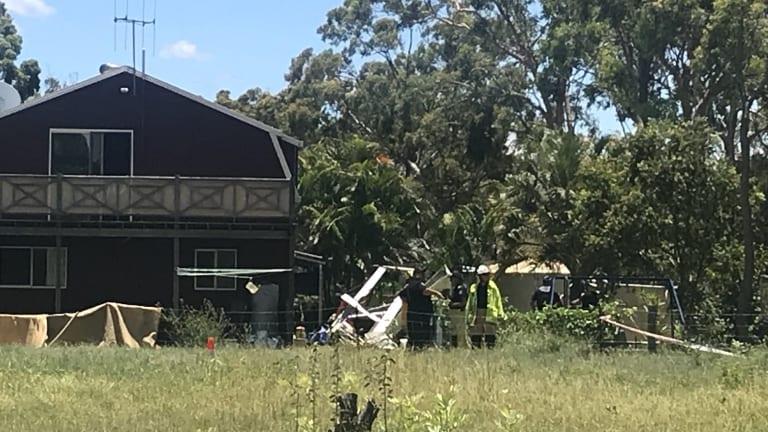 The light aircraft crashed west of Hervey Bay.