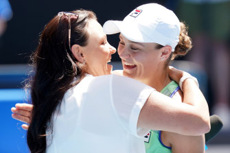 Ash Barty and Casey Dellacqua.