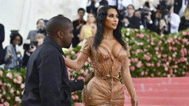 Kim Kardashian, pictured with husband Kanye West, inspired the creation of the Kardashian Index.