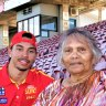Gold Coast rookie Malcolm Rosas jnr is doing his family proud