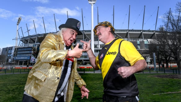 Let's get ready to rumble: Joffa and Trout prepare to lead Magpie and Tigers to battle