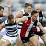 Geelong end St Kilda's finals hopes with come from behind win
