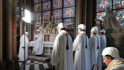 Notre-Dame celebrates first Mass since devastating April fire