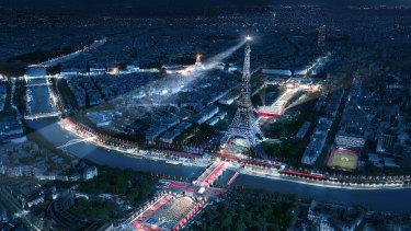 Paris organisers will aim to maximise the city's landmarks for the 2024 Olympics.